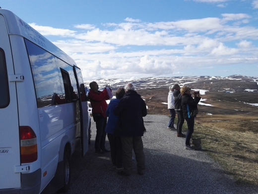 Minibuss trip on the roud to Northcape